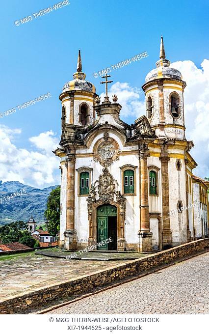 Sao Francisco de Assis Church, Ouro Preto, Minas Gerais, Brazil