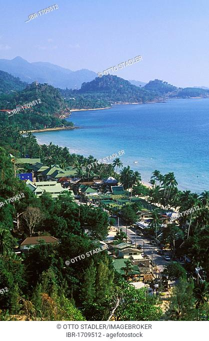 Panoramic view, coasts, White Sand Beach, Hat Sai Kao, Koh Chang Island, Trat, Thailand, Southeast Asia