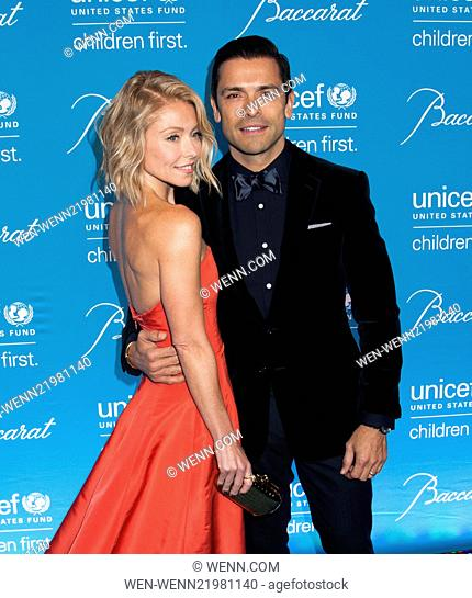 Unicef Snowflake Ball 2014 Featuring: Kelly Ripa,Mark Consuelos Where: New York, New York, United States When: 02 Dec 2014 Credit: WENN.com