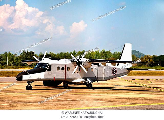 Small plane in airport of Nan Province