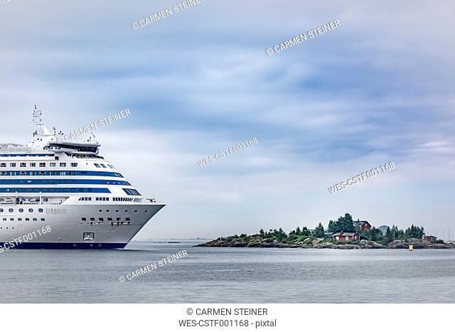 Finland, Helsinki, ferry in west harbour