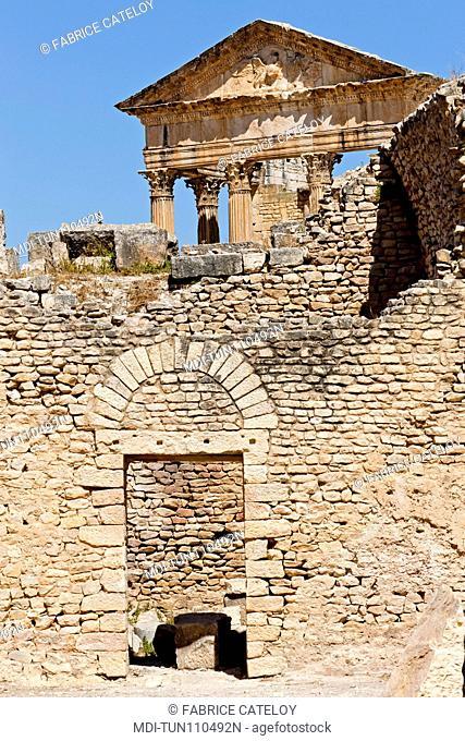 Tunisia - Dougga - The Capitol from the Licinian Baths