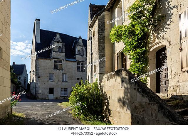 Notable's House known as Judges House or Forge House and Grand Carroi House in the background at Crissay-sur-Manse, Labeled The Most Beautiful Villages of...