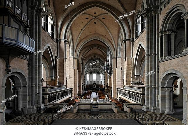 Cathedral of Trier, view from the high altar, Rhineland-Palatinate, Germany