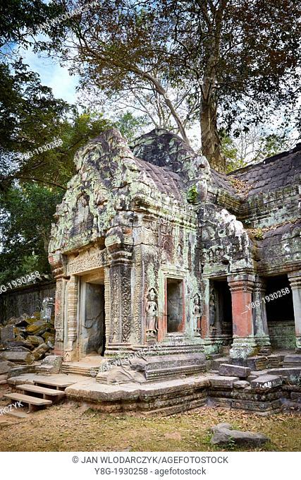 Ruins of the Ta Prohm Temple, Angkor Temple Complex, Cambodia, Asia