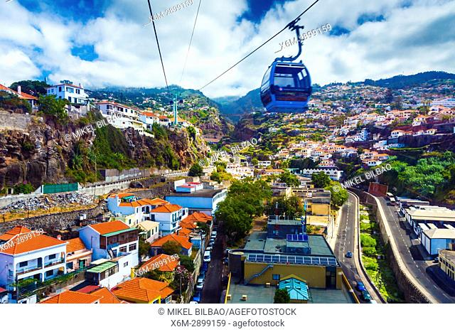 Cable Car to Monte. Funchal. Madeira, Portugal, Europe