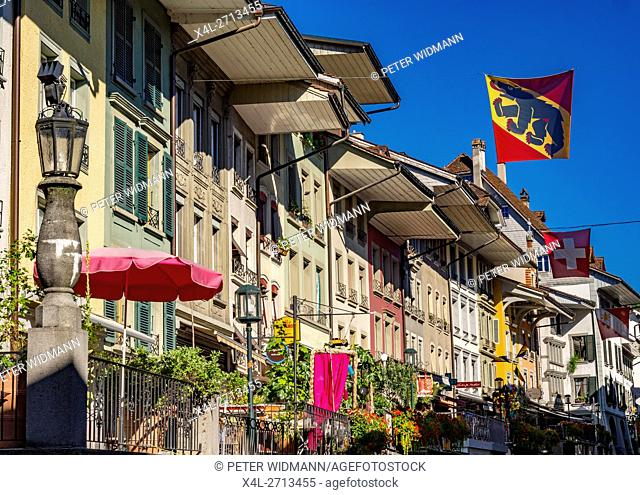 Old Town of Thun, Obere Hauptgasse, Bernese Oberland, Canton of Bern, Switzerland, Europe
