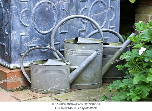 English garden watering cans, UK