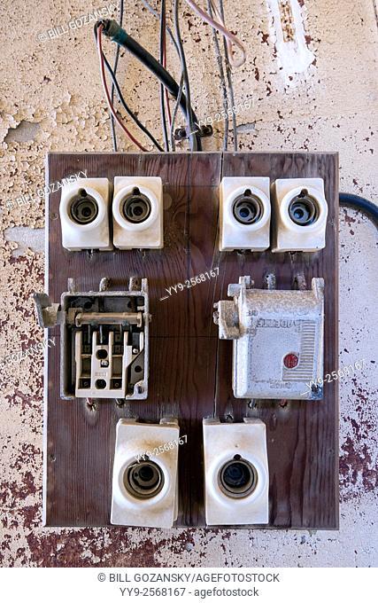 Electrical Panel in Kolmanskop Ghost Town - Luderitz, Namibia, Africa