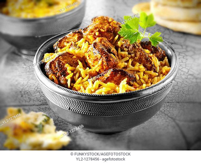Chicken Rogan Josh curry Indian food