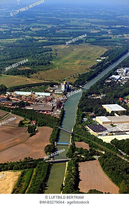 channel Mittellandkanal near Wackum, Germany, Lower Saxony, Wackum