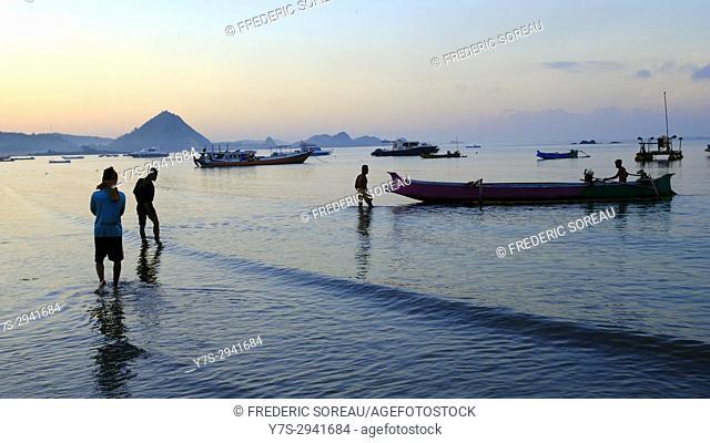 Kuta beach,Kuta,Lombok,Indonesia,Souteast Asia,Asia