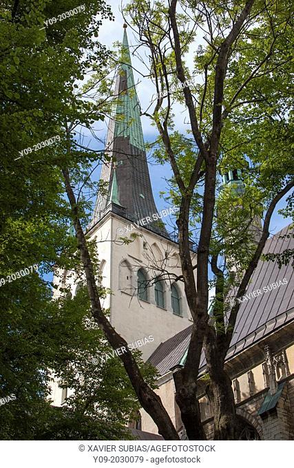 St. Olaf's church Oleviste kirik, Old Town, Tallinn, Harju, Estonia