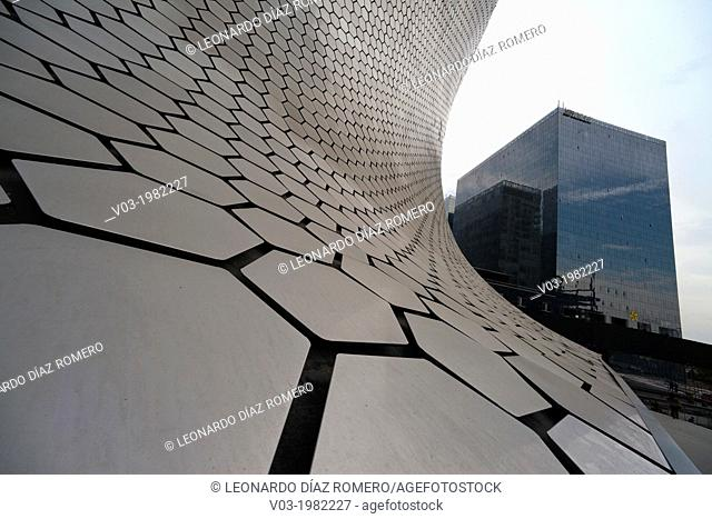 Mexico, Mexico City, Close-up view of Museo Soumaya