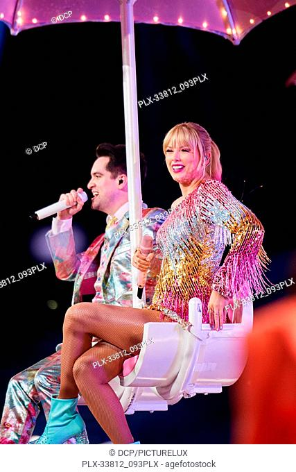 Taylor Swift, Brendon Urie at the 2019 Billboard Music Awards held at MGM Grand Garden Arena on May 1, 2019 in Las Vegas, Nevada