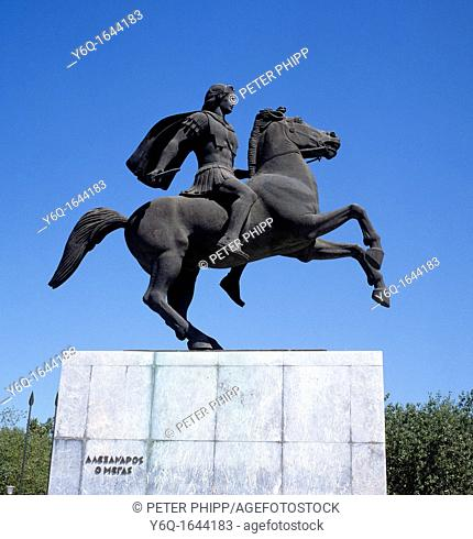 Equestrian Statue of Alexander the Great at Thessaloniki Greece