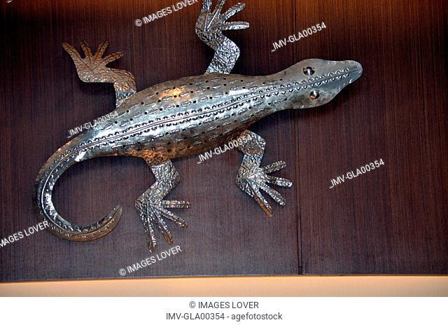 Animal representation of Lizard on table