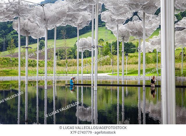 Crystal Cloud and Mirror Pool, Swarovski Kristallwelten, Crystal World museum, Innsbruck, Austria
