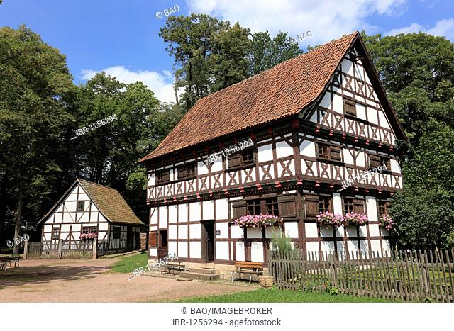 The Hennebergisches Freilichtmuseum open-air-museum near the monastery of Vessra, Hildburghausen district, Thuringia, Germany