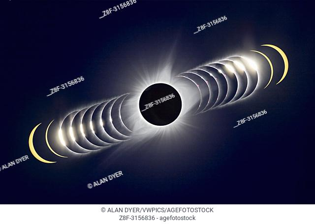 Hereâ. . s a variation on creating a time-sequence composite of the August 21, 2017 total solar eclipse. . . In this case, time runs from left to right