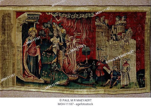 La Tenture de l'Apocalypse d'Angers, Satan assiege la Ville 1,56 x 2,61m