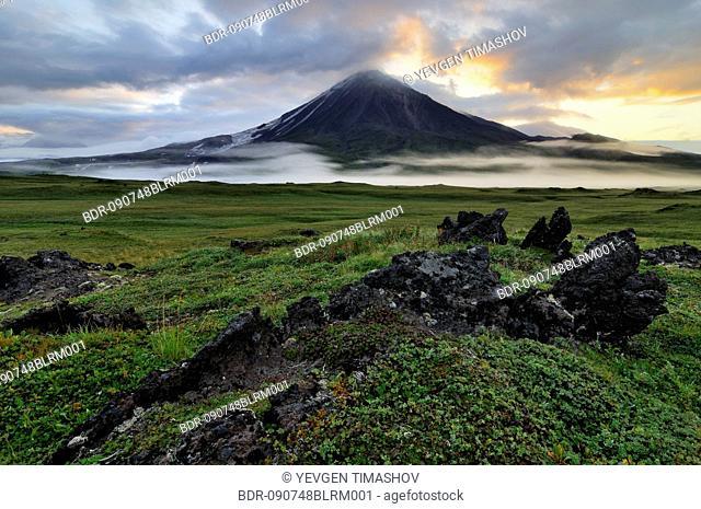 Ovalnaya Zimina volcano on Kamchatka