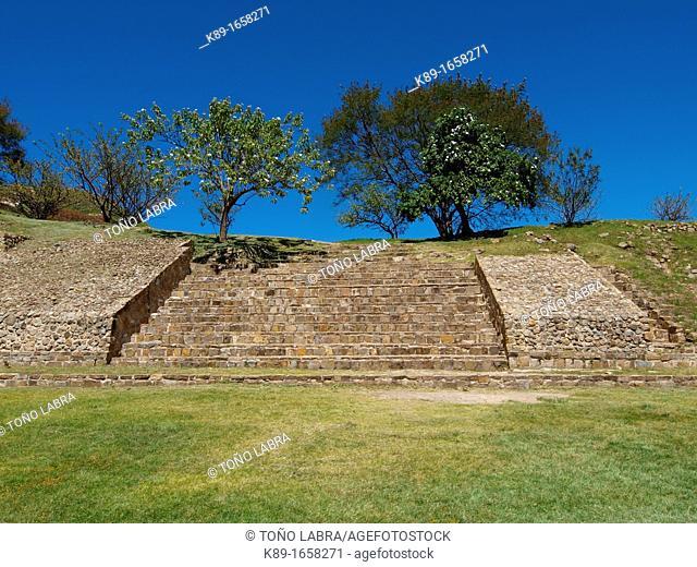 Steps. Monte Albán. Zapotec archeological site. Oaxaca. Mexico