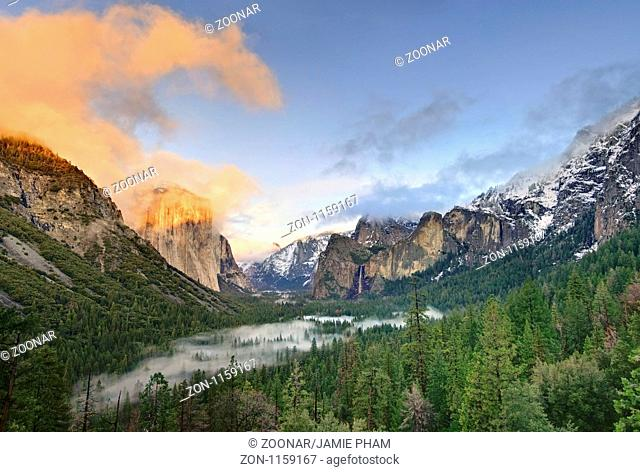 Dramatic view of Yosemite Valley