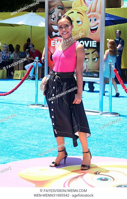 """The World Premiere of """"THE EMOJI MOVIE"""" Featuring: Asia Monet Ray Where: Los Angeles, California, United States When: 23 Jul 2017 Credit: FayesVision/WENN"""