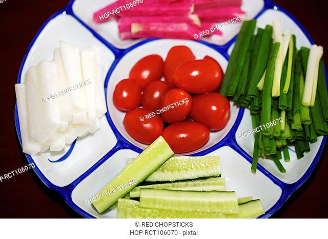 Salad in a tray, HohHot, Inner Mongolia, China