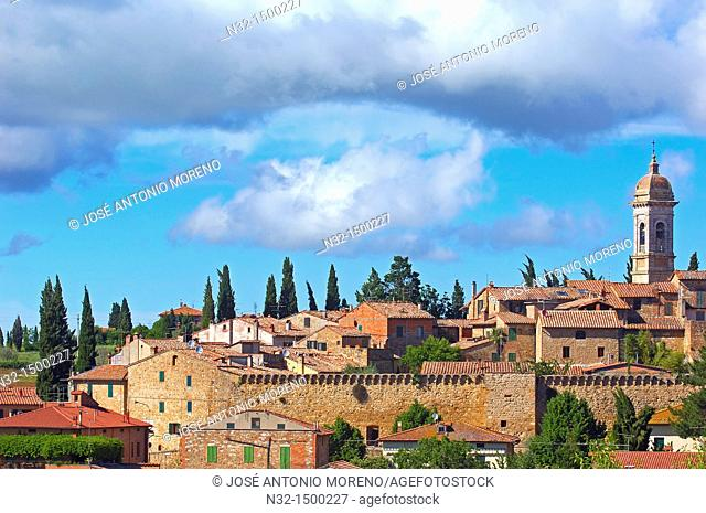 San Quirico d'Orcia, Val d'Orcia, Orcia Valley, Siena Province, Tuscany, Italy