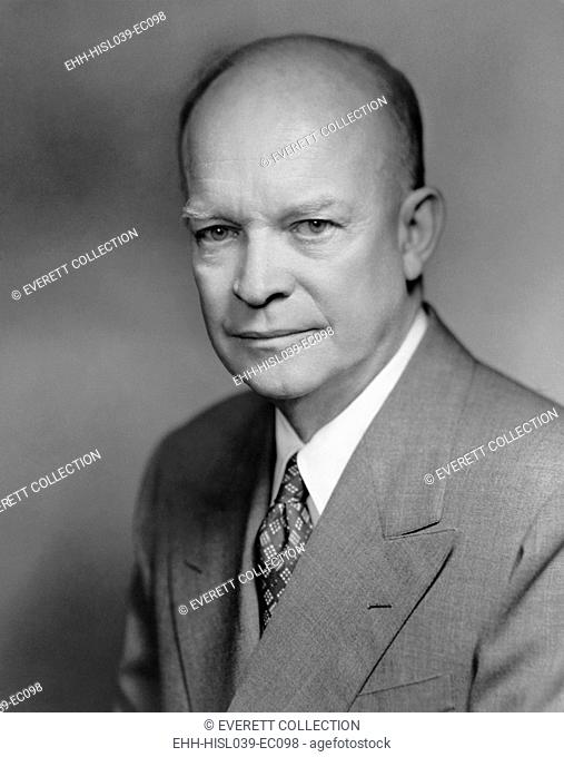 General Dwight Eisenhower. 1952 portrait by Bachrach. - (BSLOC-2014-16-49)