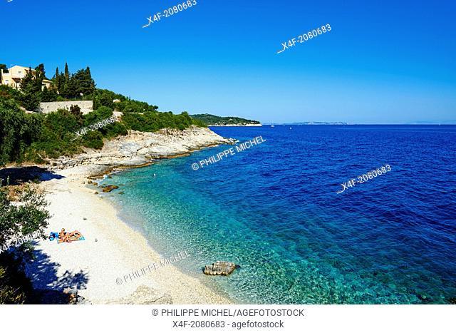 Greece, Ionian island, Paxi, Kloni Gouli beach