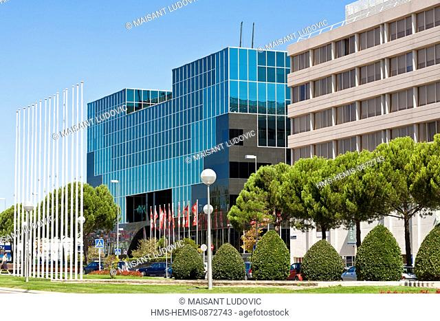 Spain, Madrid, Barajas, Campo de las Naciones, offices