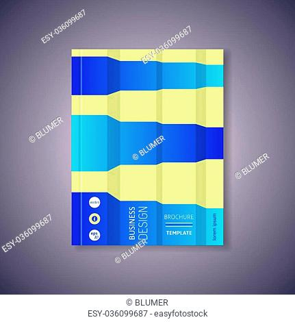 Modern vector abstract brochure or book design template