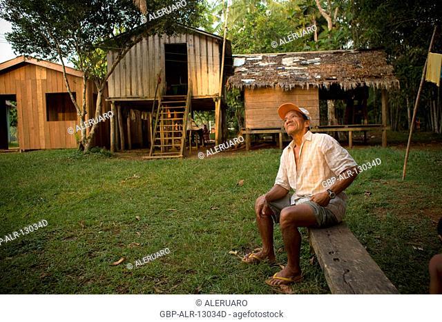 Houses, People, Terra Preta Community, Cuieiras River, Amazônia, Manaus, Amazonas, Brazil