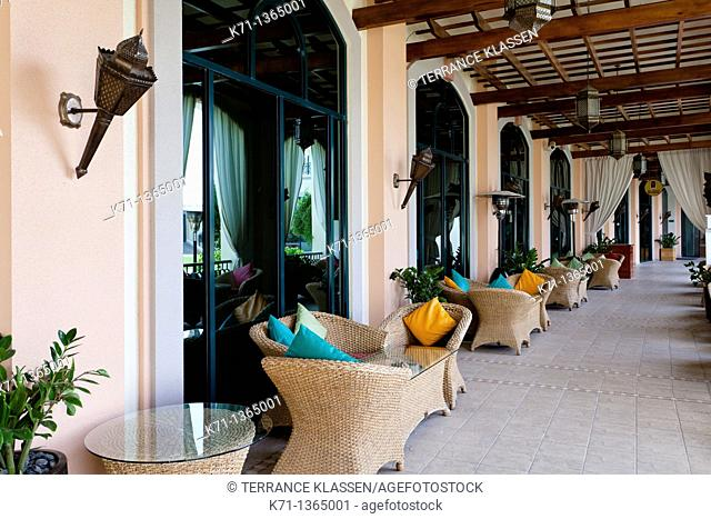 Interior of the Rotana Resort Hotel in Al Ain, Abu Dhabi Emirate, UAE