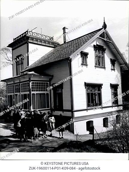 1966 - Visit to the home of Edvard Gried, near Bergen. (Credit Image: © Keystone Pictures USA/ZUMAPRESS.com)