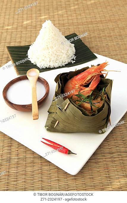 Cambodian royal seafood amok