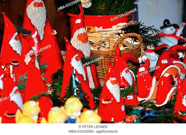 Germany, Bavaria, Lake of Constance, Lindau, Christmas fair, Nicholases