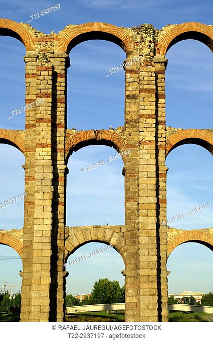Mérida (Spain). Archery of the Aqueduct of the Milagros in the city of Mérida