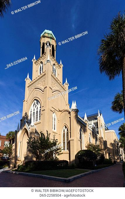USA, Georgia, Savannah, Temple Mickve Israel, synagogue built in 1876