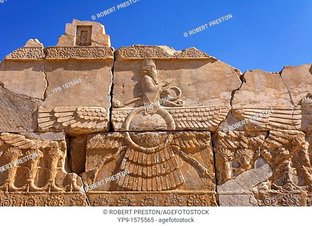 Carved bas reliefs at Persepolis, Iran