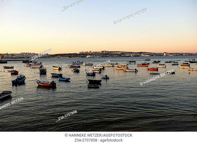 Boats at the shore of Trafaria, Portugal, Europe