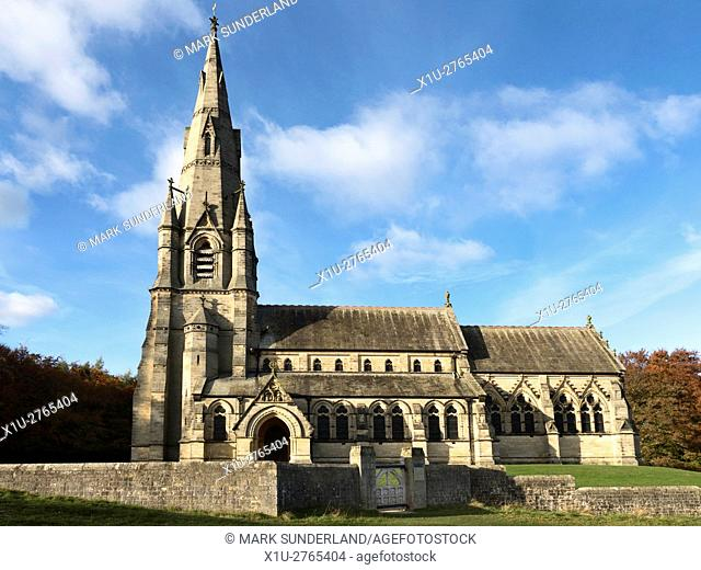 St Marys Church at Studley Royal Ripon Yorkshire England