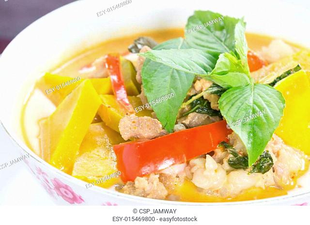 Panang Curry with pork