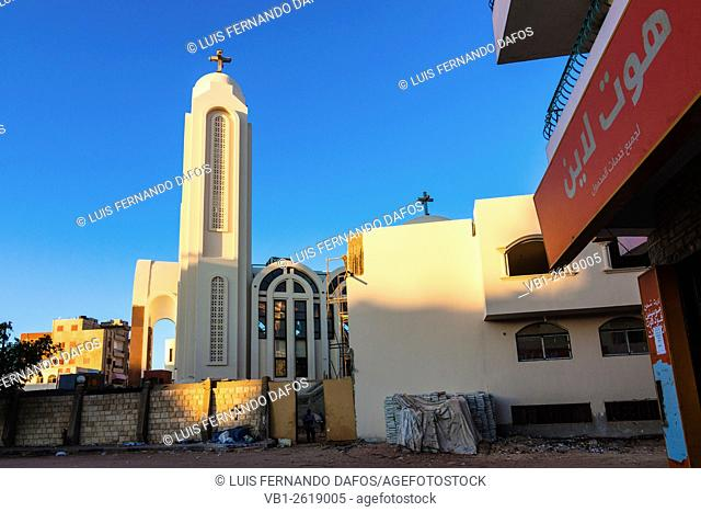 Coptic cathedral of Saint Shenouda in Hurghada, Egypt