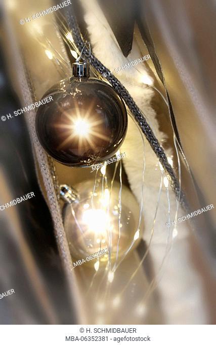Christmas ball with fairy lights