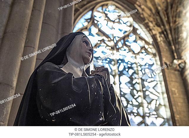 Europe, France, Nievre region, Nevers, the Cathedral of Saint-Cyr et Saint-Julitte