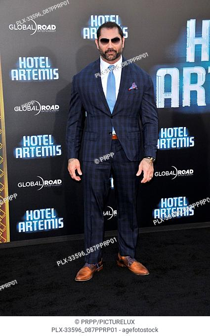 "Dave Bautista at the """"Hotel Artemis"""" Los Angeles Premiere held at the Bruin Theater in Los Angeles, CA on Saturday, May 19, 2018"